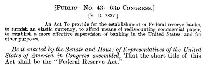 Finding Laws on FRASER: Example of law by chapter, title, and Congress