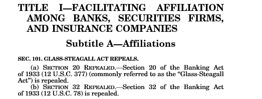 Financial Services Modernization Act of 1999 (Gramm-Leach-Bliley Act)